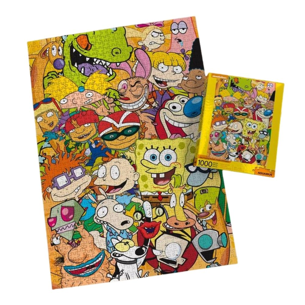nickelodeon 90s cast 1000 piece jigsaw puzzle from funky gifts nz