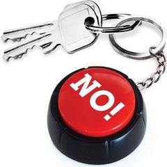 NO! Button Keyring
