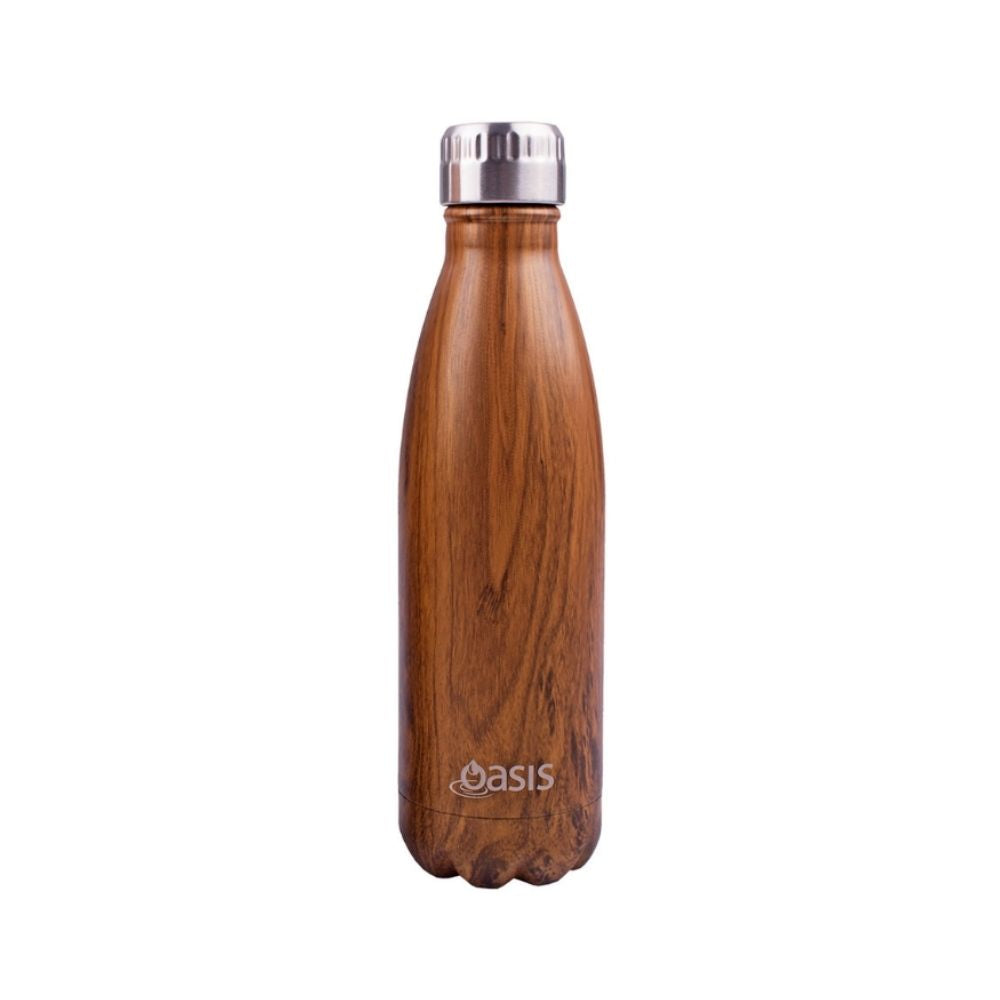 Oasis 500ml drink bottle Teak from funky gifts nz