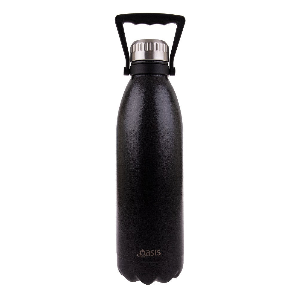 Oasis Stainless Steel Bottle Hammertone Grey-1.5L