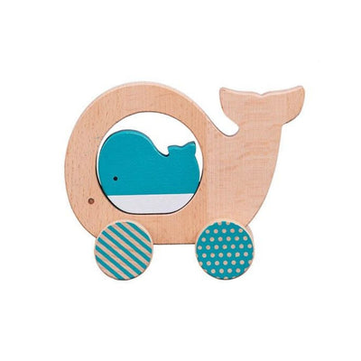 little whale push along toy from funky gifts nz