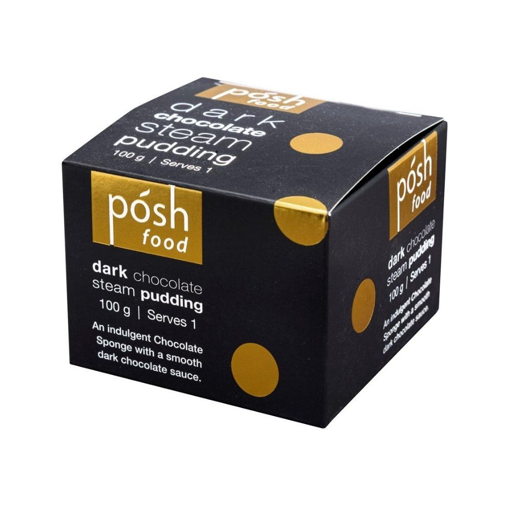 Posh Food Dark Chocolate Steam Pudding Single Serving from Funky Gifts NZ