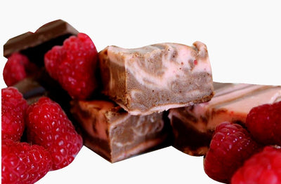 Chocolate and Raspberry Swirl Fudge