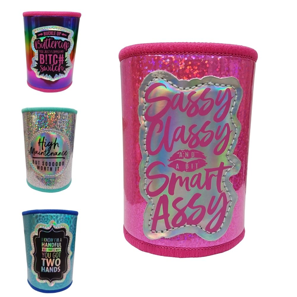 Sassy Classy and a bit smarty assy can cooler from funky gifts nz