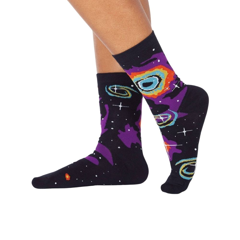 sock it to me crew socks helix nebula from funky gifts nz