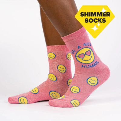 Sock It To Me Socks - Women's Crew - Be a Nice Human
