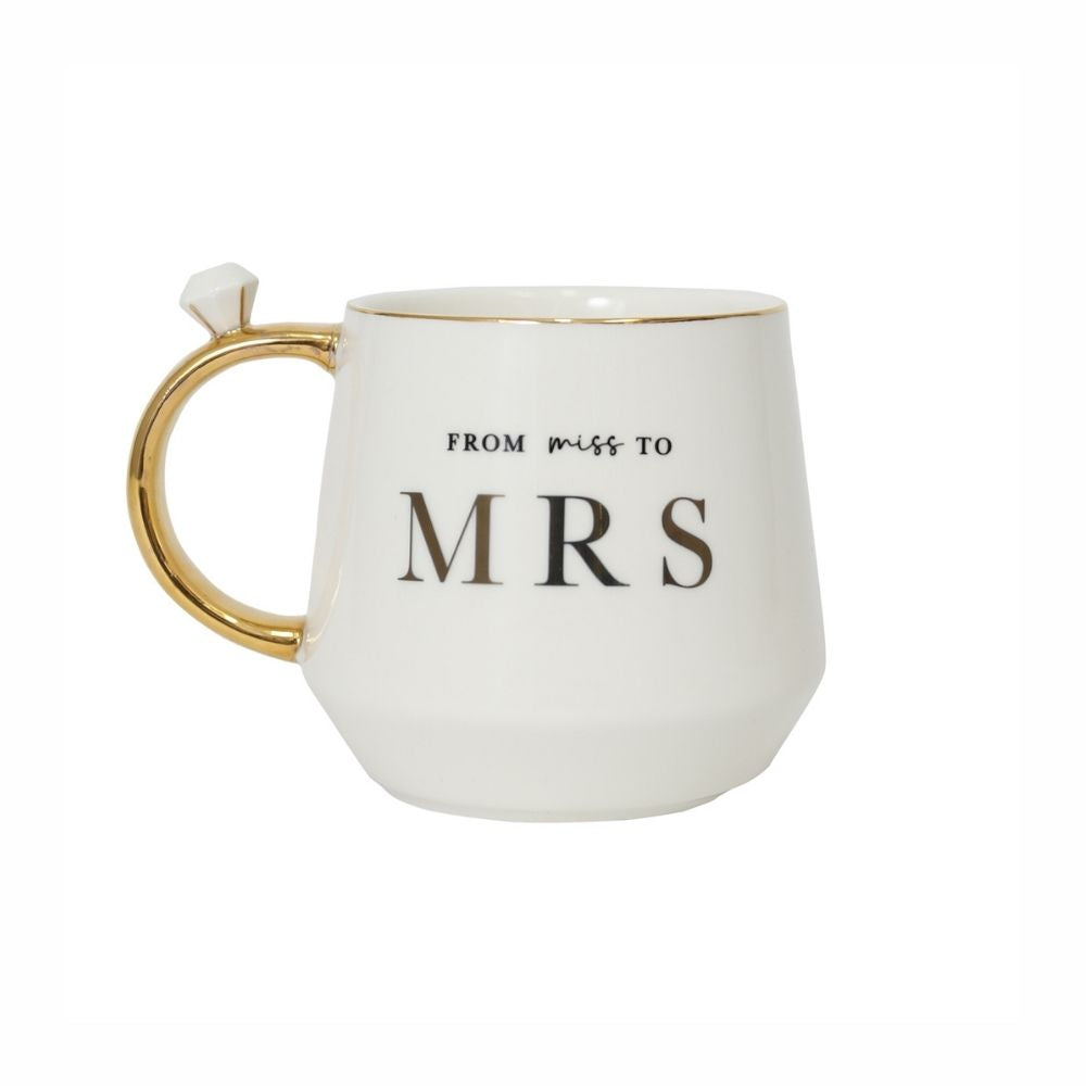 from miss to mrs wedding mug from funky gifts nz