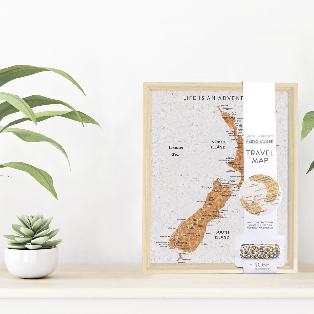 NZ Travel Map Pin Board - Small