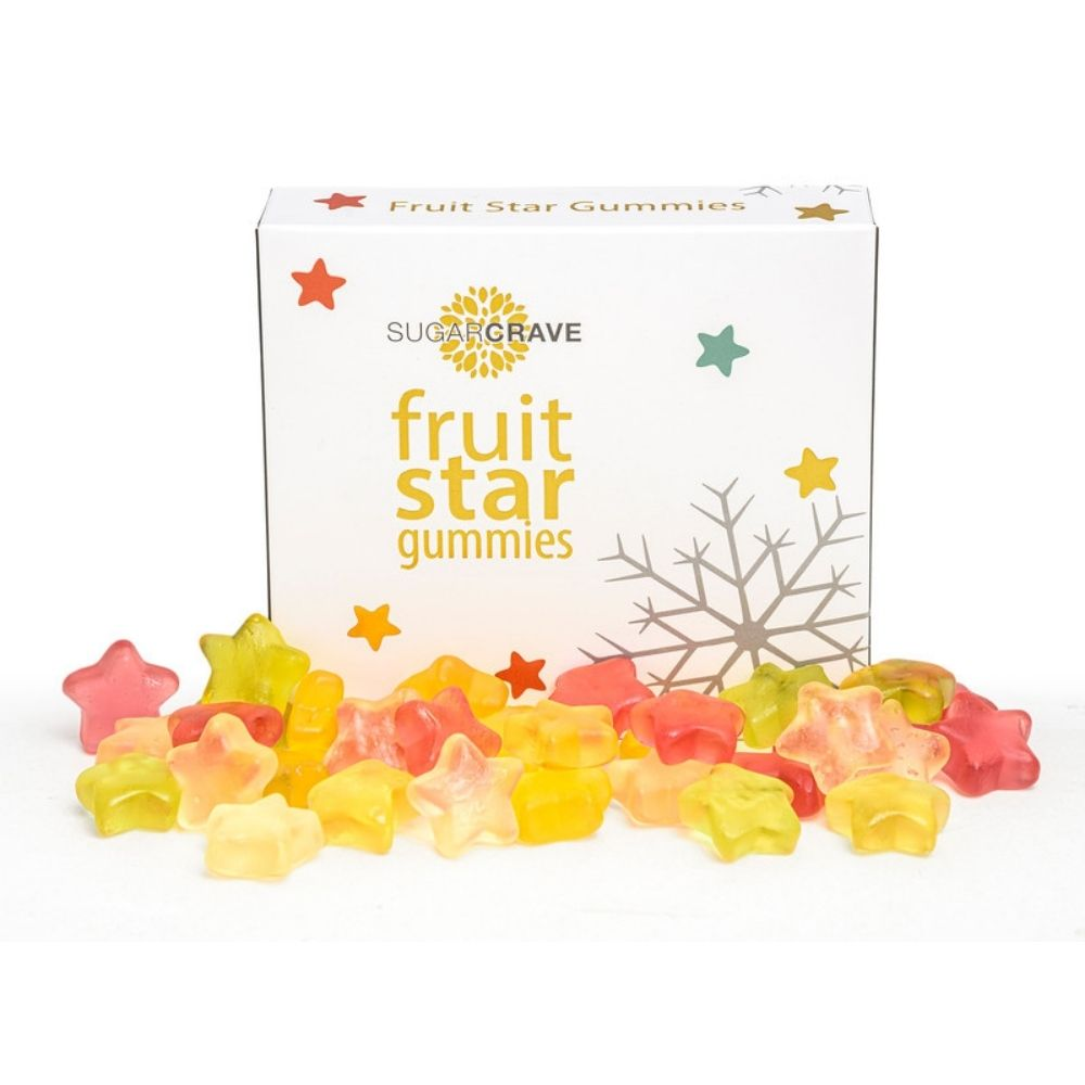 Vegan Friendly Fruit Star Gummies from Funky Gifts NZ