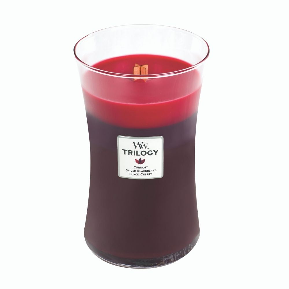 Woodwick Trilogy Sun Ripened Berries Large Candle from funky gifts nz