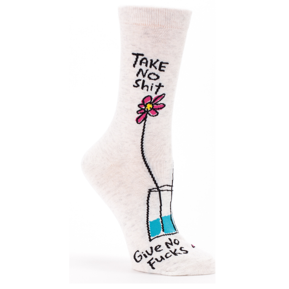 Blue Q Socks – Women's Crew – Take No Shit