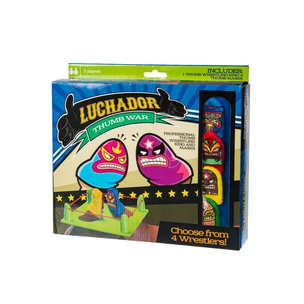 luchador thumb wars wrestling game toy from funky gifts nz
