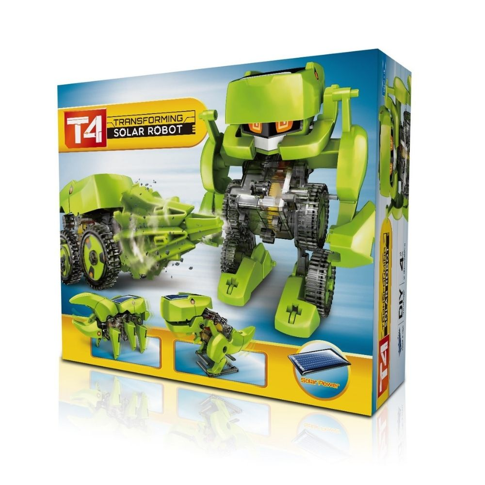 4 in 1 Transforming Solar Robot Kit from Funky Gifts NZ