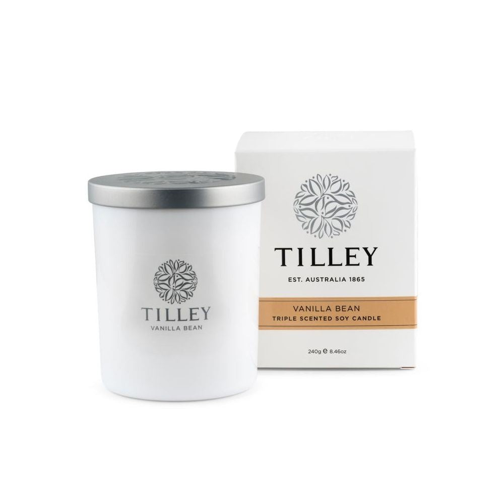 Tilley Soy Candle Vanilla Bean from Funky Gifts NZ