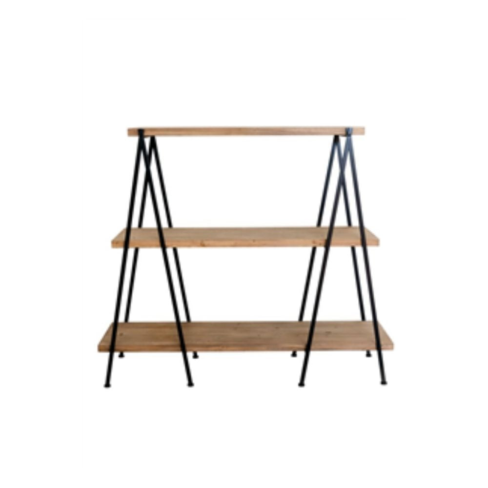Vienna Shelving Unit - 3 Tier Wood and Metal