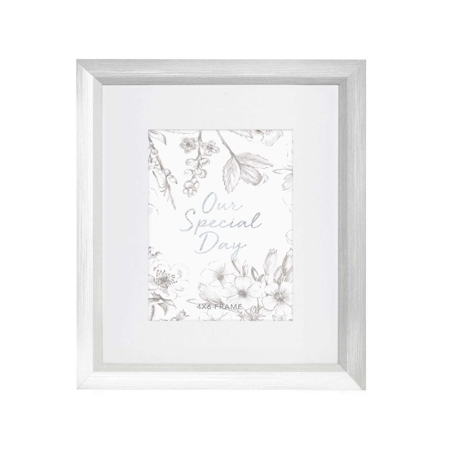 Wedding & Engagement 4x6 Silver Frame