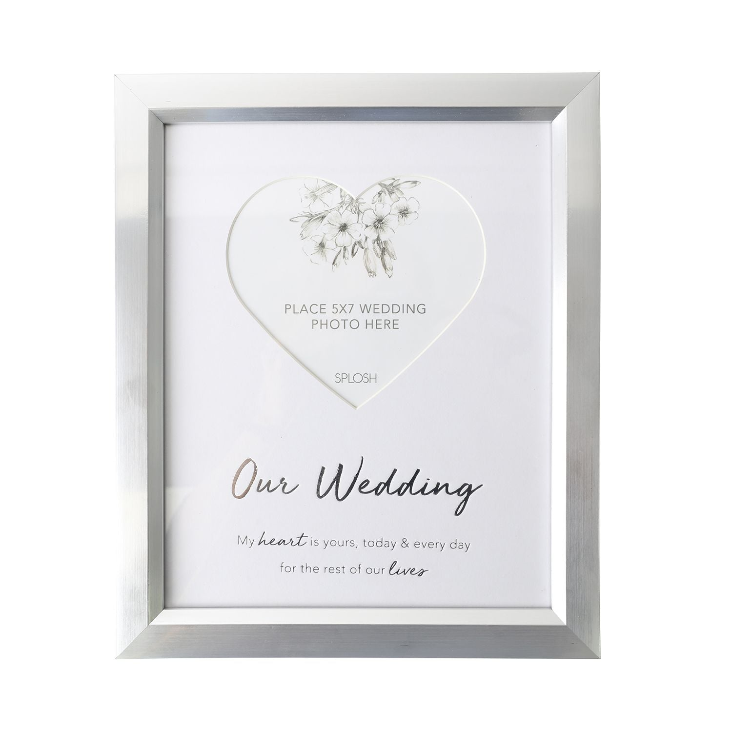 Wedding & Engagement 5x7 Silver Frame