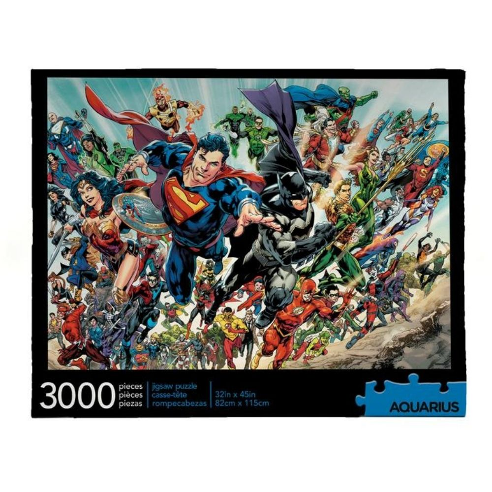 DC Comics Cast 3000 piece jigsaw puzzle from funky gifts nz
