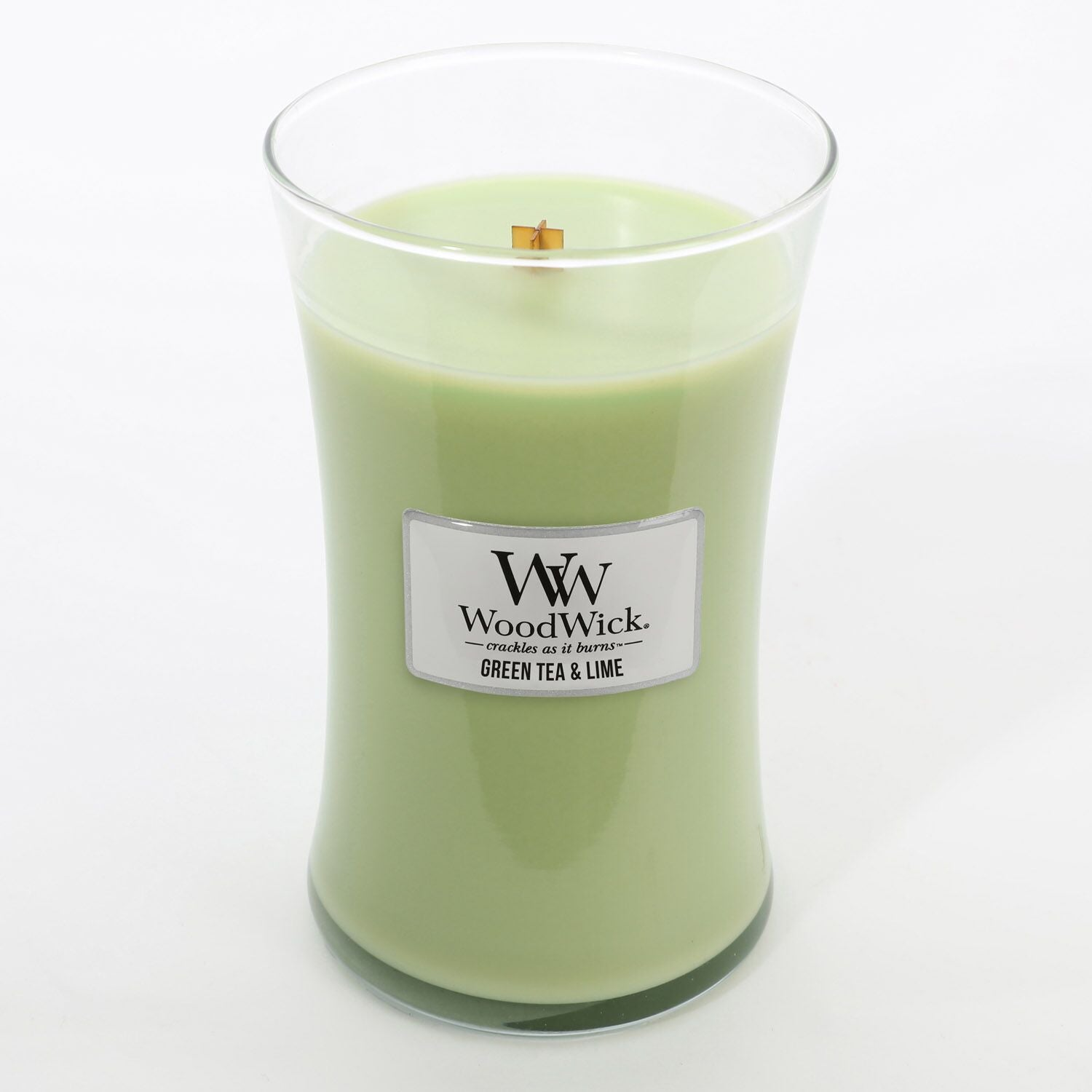 Large Green Tea & Lime Scented WoodWick Soy Candle