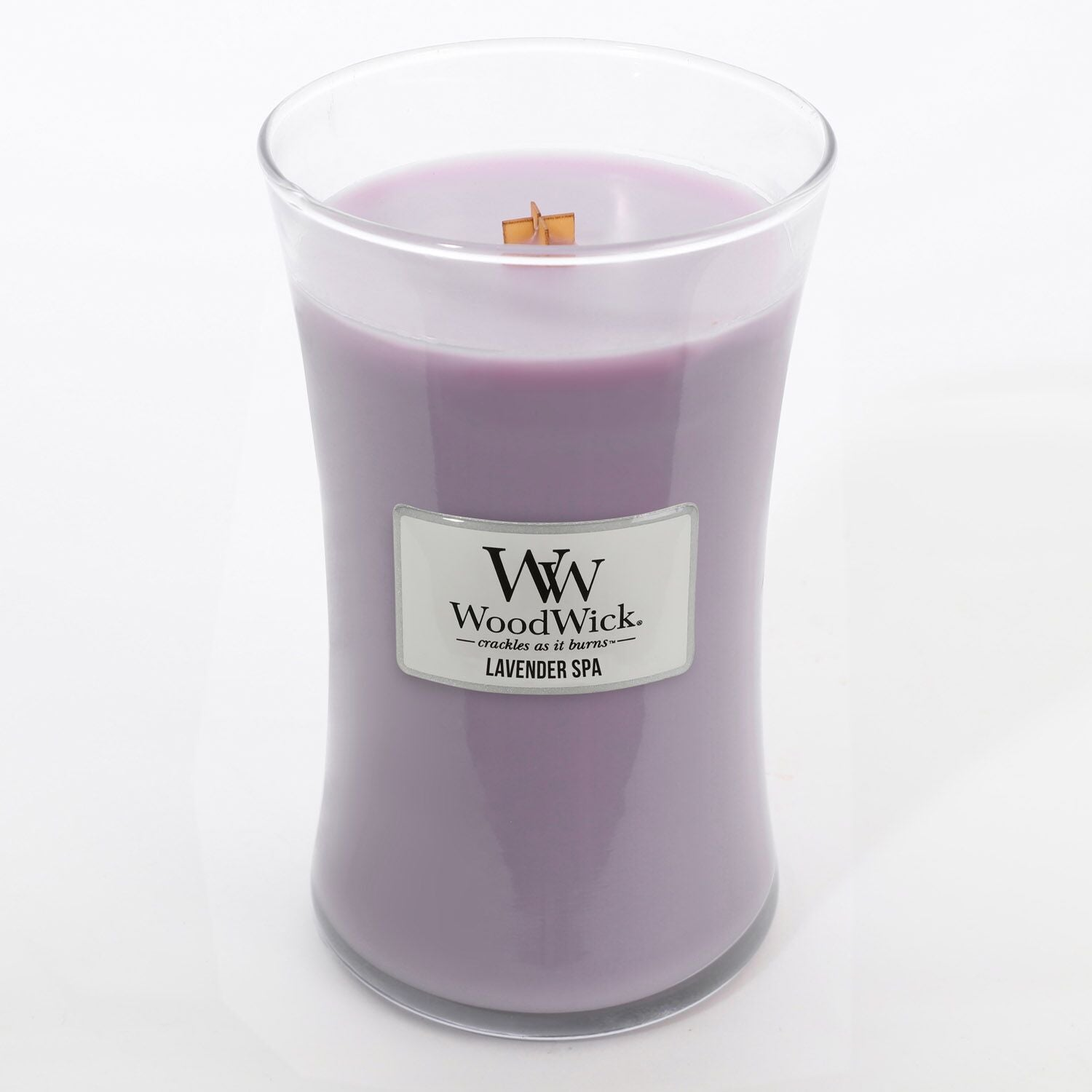 Large Lavender Spa Scented WoodWick Soy Candle