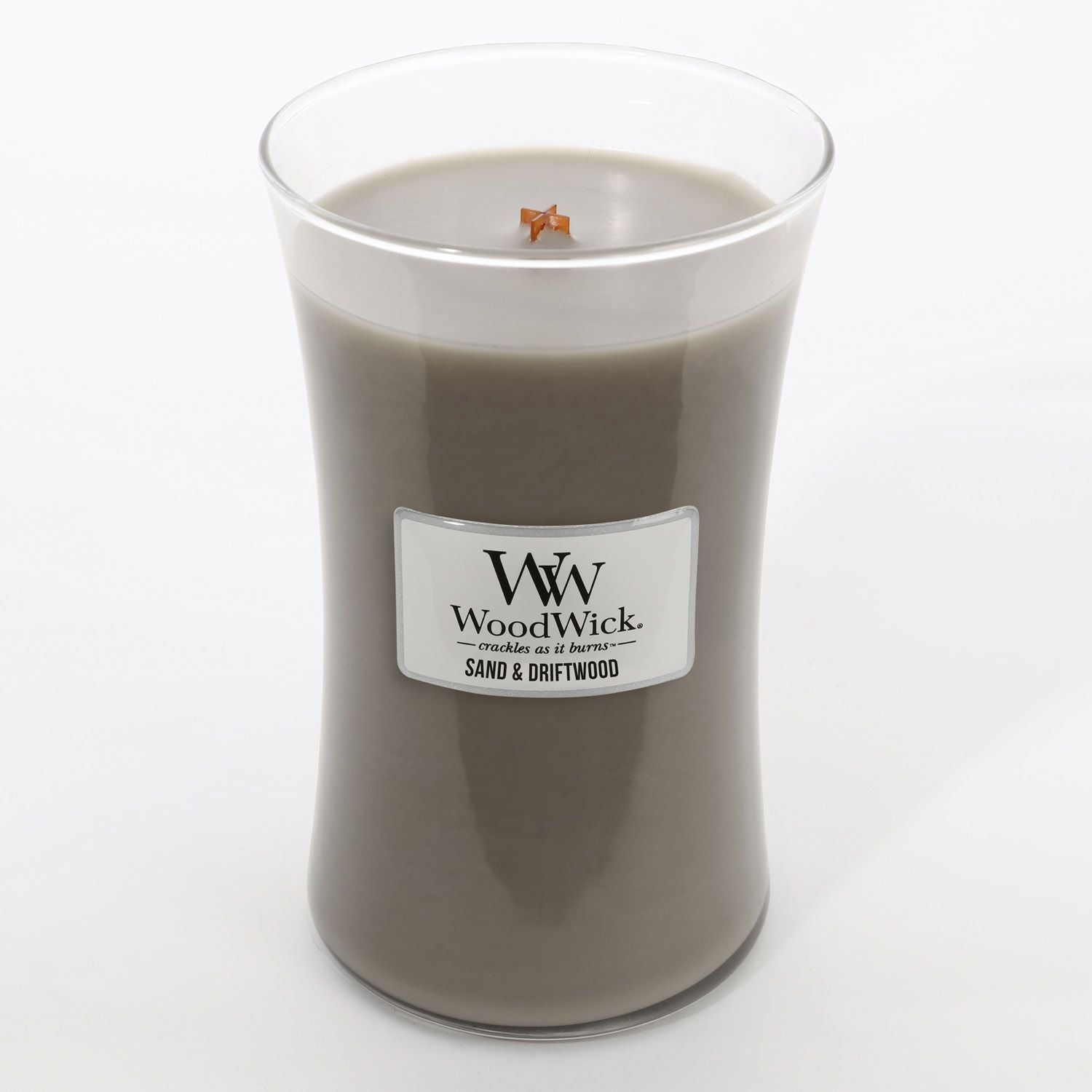 Large Sand & Driftwood Scented WoodWick Soy Candle