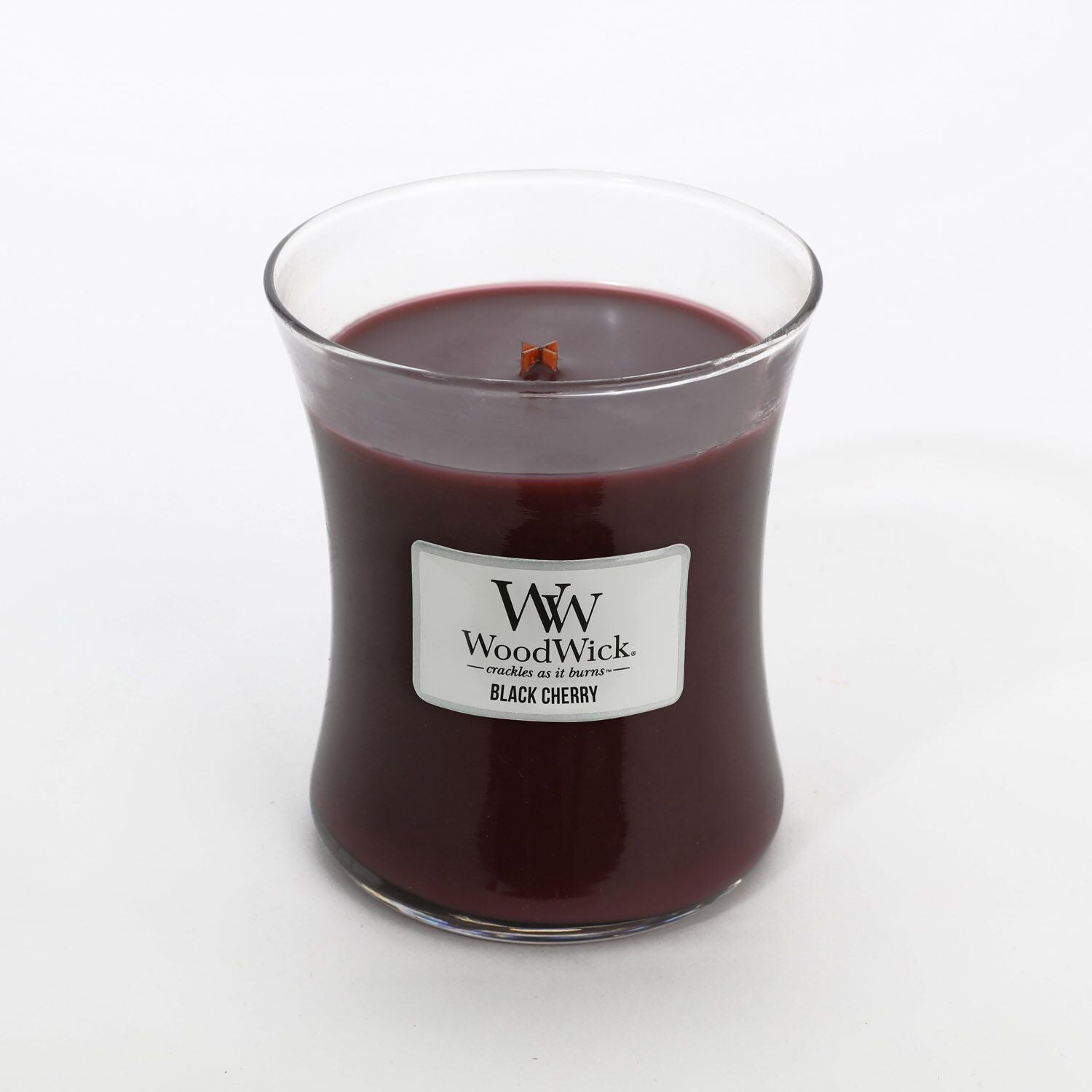 Medium Black Cherry Scented WoodWick Soy Candle
