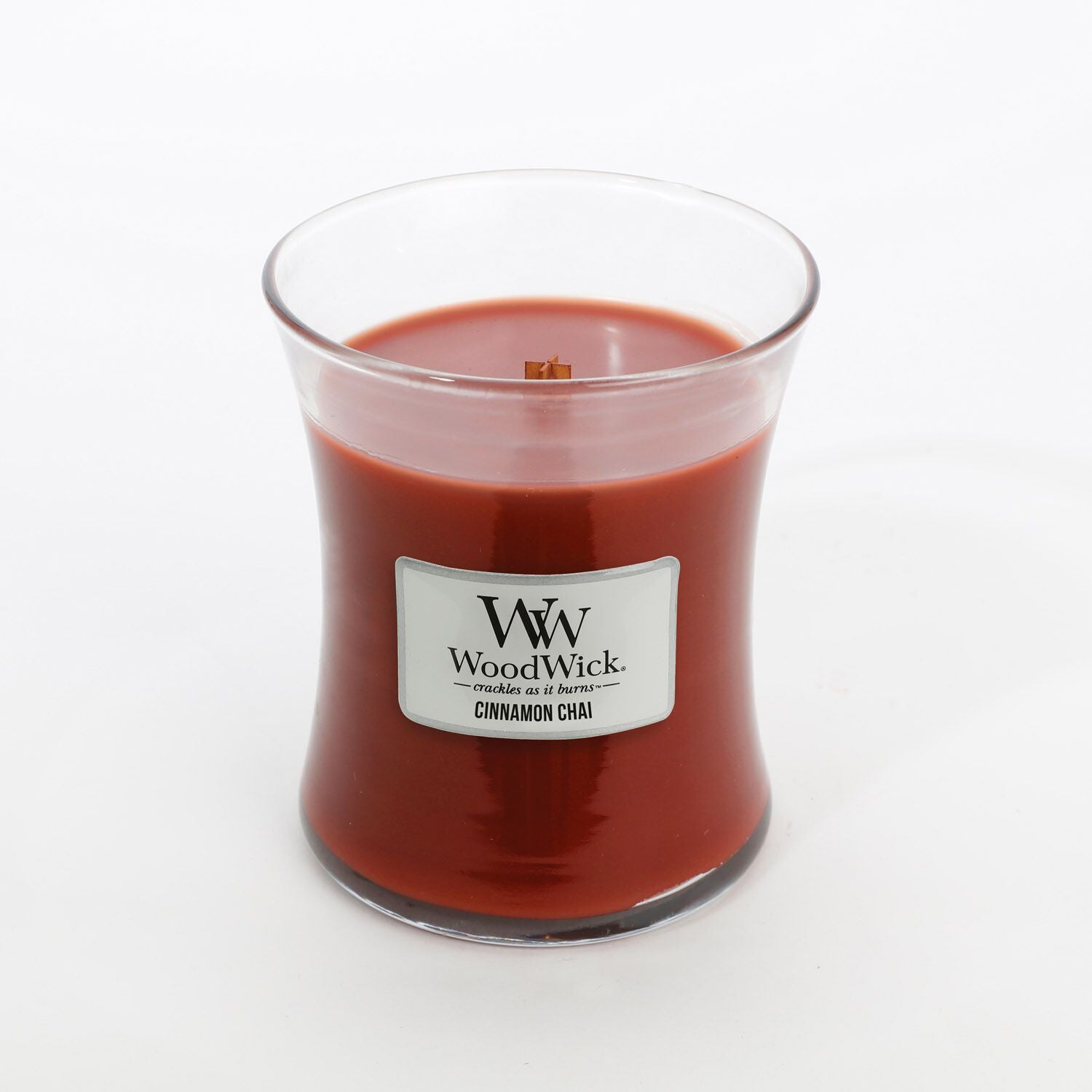 Medium Cinnamon & Chai Scented WoodWick Soy Candle