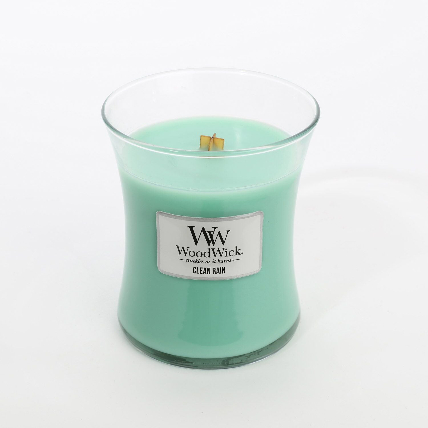 Medium Clean Rain Scented WoodWick Soy Candle