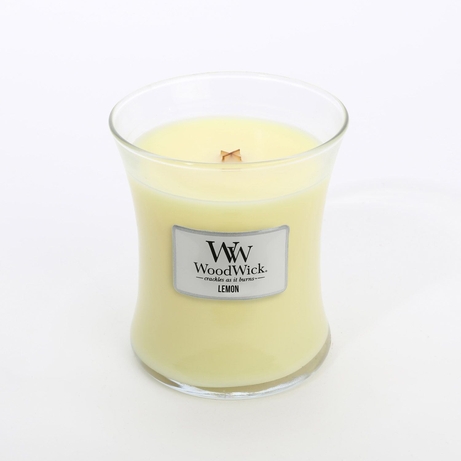 Medium Lemon Scented WoodWick Soy Candle