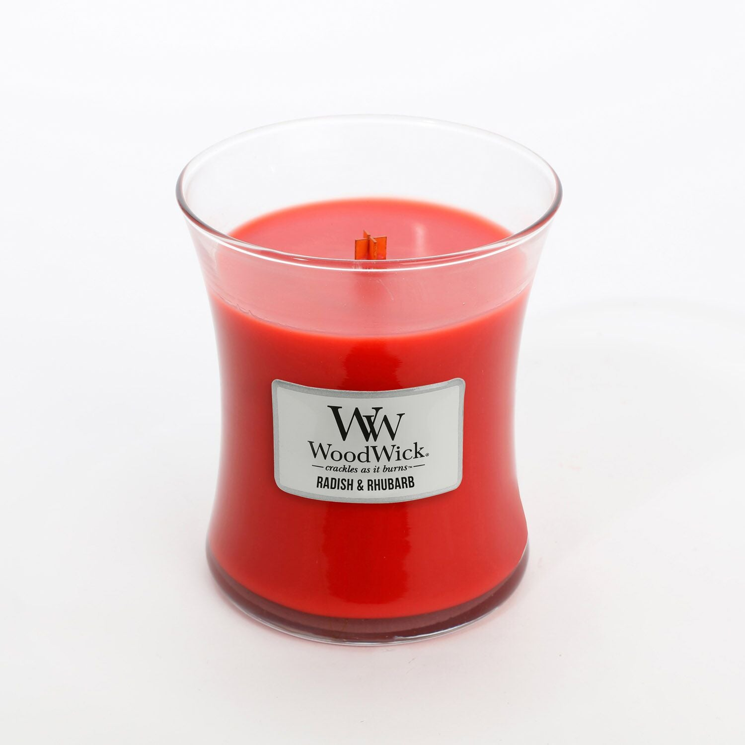 Medium Radish & Rhubarb Scented WoodWick Soy Candle