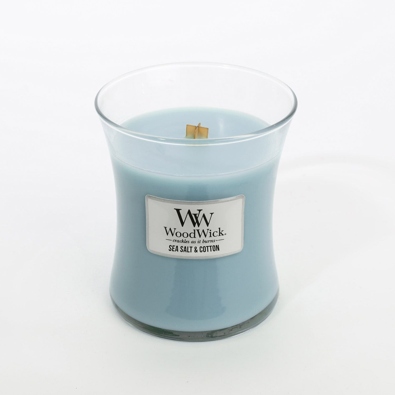 Medium Sea Salt & Cotton Scented WoodWick Soy Candle