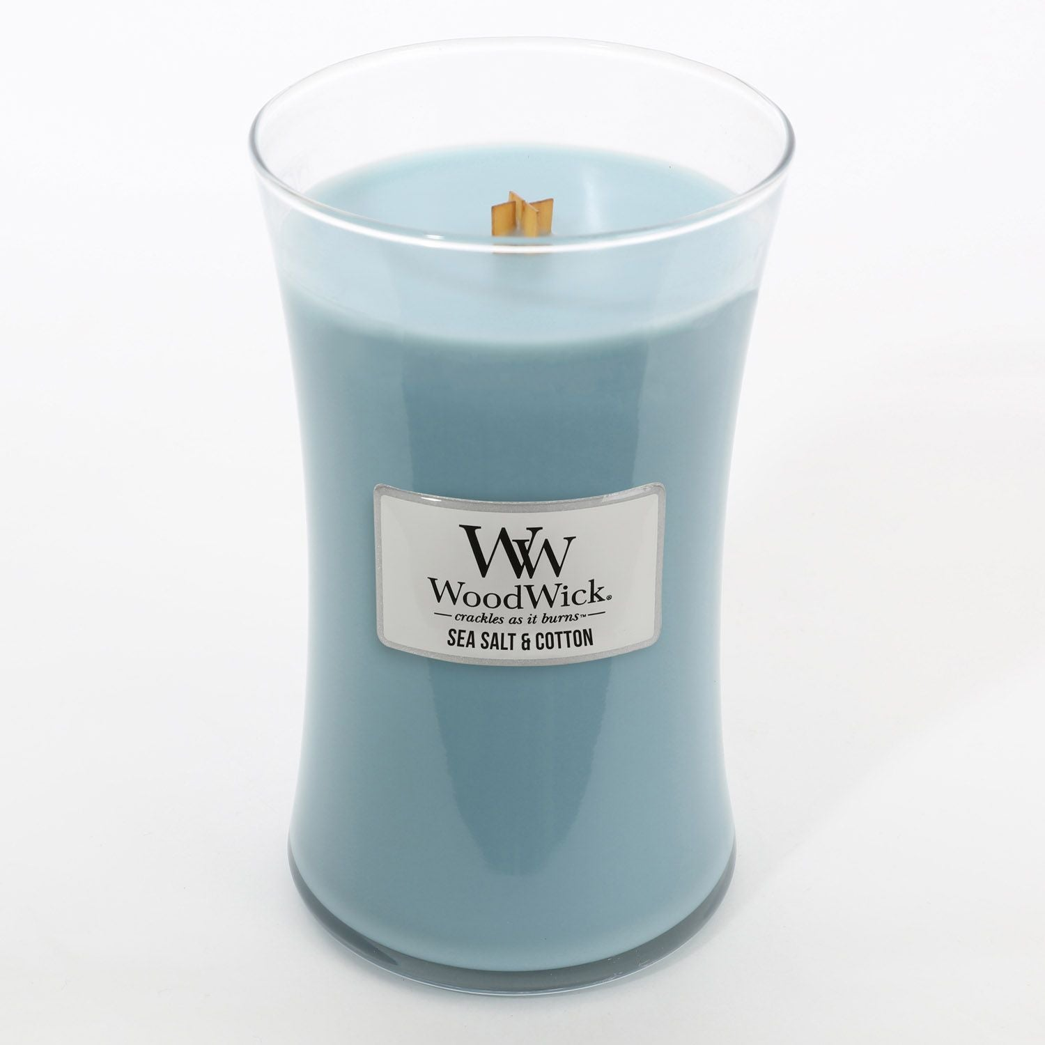 Large Sea Salt & Cotton Scented WoodWick Soy Candle