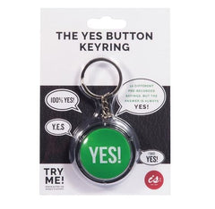 The YES Button Key Ring