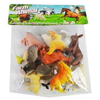 12 pc Farm Animals in a Bag