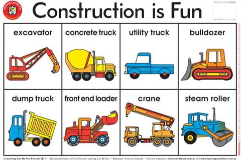 Construction is Fun Placemat