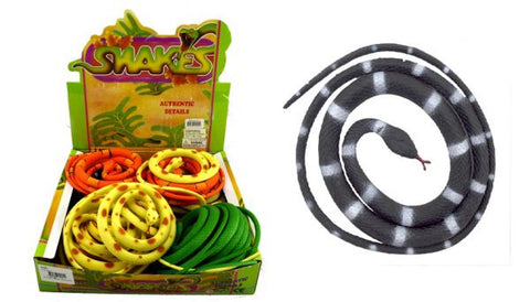 Rubber Snake 90cm Assorted