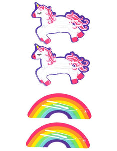Rainbow and Unicorn Fun Shapes Hairclips