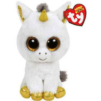 Ty Beanie Boos Regular Pegasus the White Unicorn