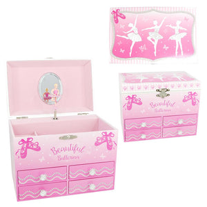 Beautiful Ballerina Medium Musical Jewellery Box