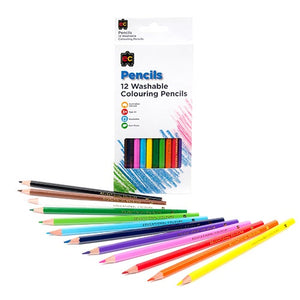 12 Washable Colouring Pencils