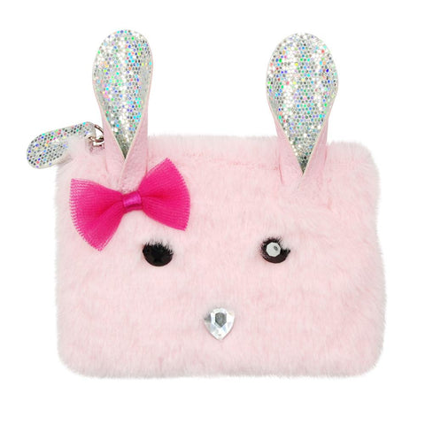 Into the woods bunny coin purse - pale pink