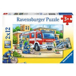 Ravensburger Police and Firefighters Puzzle 2 x12pc
