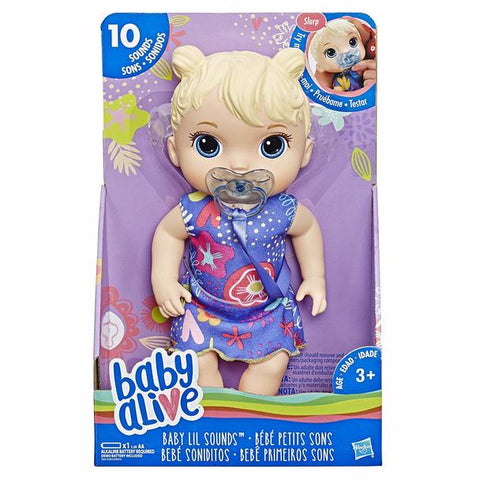 Baby Alive Sweet Sound Baby Blonde