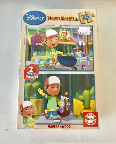 2 x 25 Handy Manny Puzzle