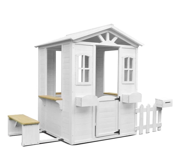 Teddy Cubby House in White with Floor