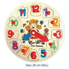 Fun Factory Wooden Puzzle Clock - Girls