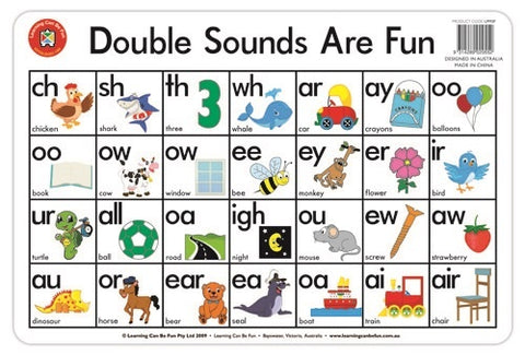 Double Sounds are Fun Placemat