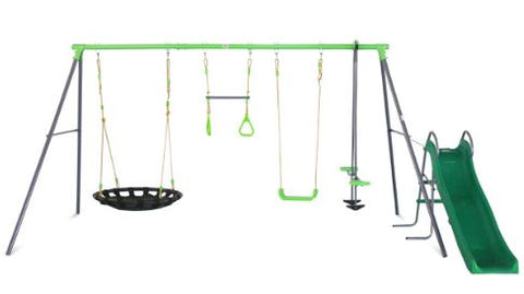 Lynx 5 Station Swing Set with Slide
