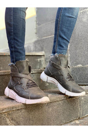 High Sole Men's Sport Boots -Grey - MensFashionsWorld