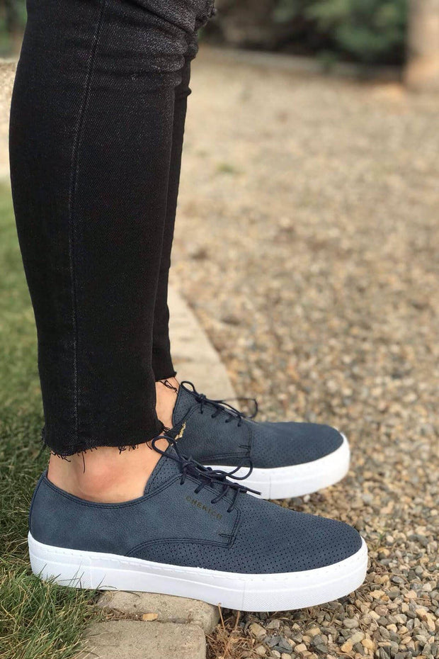 MFW Z50S Sneakers - Navy Blue - MensFashionsWorld